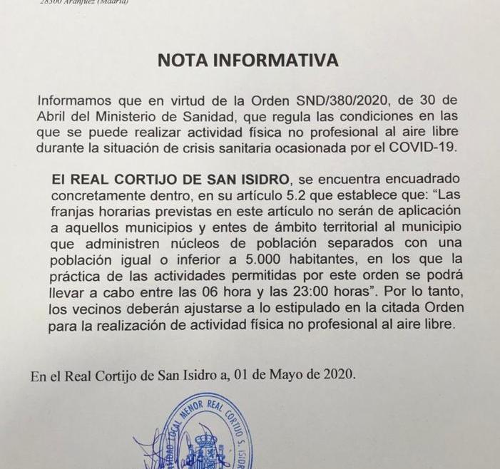 Nota Informativa Mayo